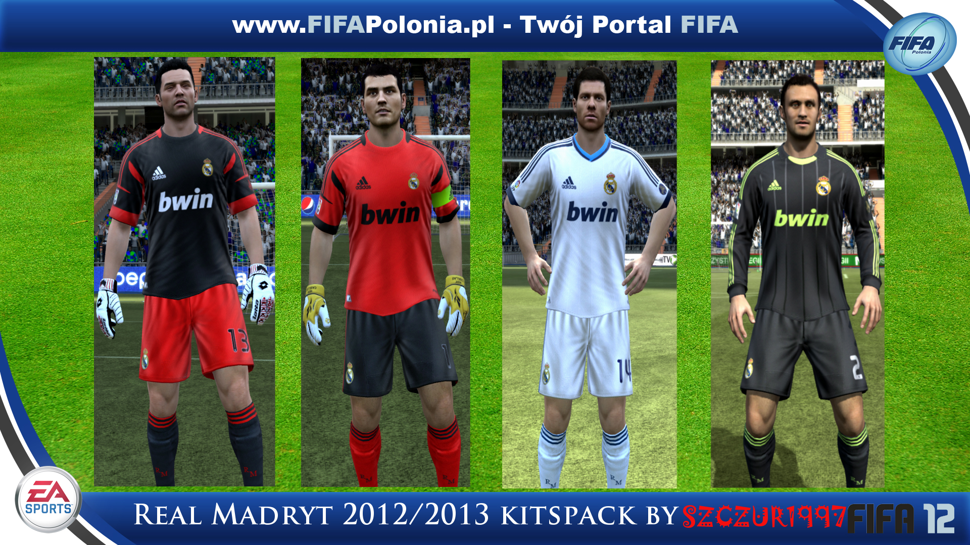 Download: Real Madryt 2012/2013 Kits Pack by Szczur1997